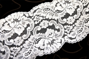 "4 3/4"" Pure White Floral Soft Galloon Lace Trim #1133"