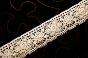 "1 1/2"" Off White Vintage Lace Trim #1213"