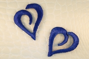 Navy Blue Curvy Heart Iron-On Applique #appliques-5