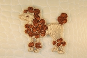 Coffee Brown Poodle Dog Vintage Applique #appliques-8