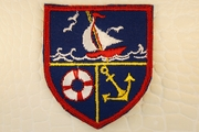 Navy Red Yellow White Sailboat Lifesaver Anchor Shield Iron-On Patch Applique #appliques-31