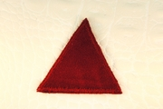 Dark Red Triangle Applique #appliques-42