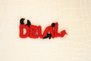 Red Devil with Black Horns Applique #appliques-1012