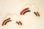 Rainbow with Cloud Applique #appliques-1015