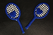 Navy White Tennis Racket with Heart Applique #appliques-1020