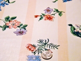 Floral Cotton Chintz Fabric Off White # UU-59
