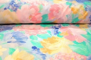 Pastel Floral Poly Cotton Prints Decorating Fabric # K-272