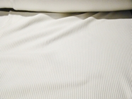 2 Yards Pure White Cotton Rib Knitted Fabric