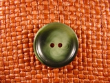 Italian 2 hole Buttons 1 inch Green #Bpiece-157