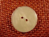 2 hole Italian Pearl Buttons 1 3/8 inches Pearl Cream #Bpiece-163