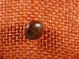 Faux Leather Buttons 5/8 inch Brown #Bpiece-165