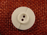 Italian Designer 2 hole Buttons 1 3/8 inches Off White #Bpiece-170