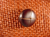 Faux Leather Buttons 7/8 inch Brown #Bpiece-205