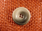 Italian 4 hole Buttons 1 1/8 inches Grey #Bpiece-212