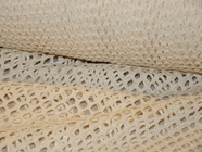 Natural White Pure Cotton Mesh Knit Fabric 4 yards