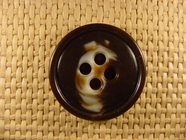 (24pcs) 4 holes Designer Buttons 1 1/4 inches Brown #bag-138
