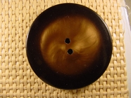 (12pcs) 2 holes Designer Buttons 1 3/4 inches Brown #bag-139