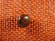 (36pcs) Faux Leather Buttons 5/8 inch Brown #bag-165