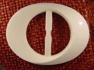 (10pcs) Buckle 2 1/8 inches X 3 inches Off White #bag-178