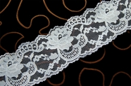 "2 3/4"" French Grey Blue Floral Lace Trim #1002"
