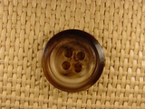 (36pcs) 4 holes Italian Buttons 1 inch Brown #bag-143