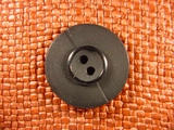 (24pcs) Italian Designer 2 hole Buttons 1 3/8 inches Black #bag- 169