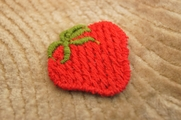 Red Strawberry Applique # appliques-1021