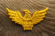 Gold Eagle Iron On Applique # appliques-1033