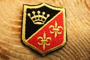 Red and Black Gold Crown Shield Iron On Patch Applique # appliques-1037