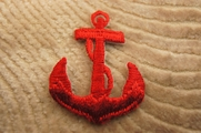 Red Anchor Iron On Applique # appliques-1049