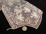 Silver Embroidery Vintage Lace Collar Applique #AP-250