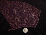 Burgundy Embroidery Vintage Collar Applique Lace #AP-252
