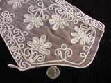 Silver Embroidery Lace Vintage Collar Applique #AP-256