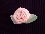 Big Flower Pink Ribbon Rosette Applique #AP-262