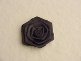Black Rose Flower Ribbon Applique #AP-269