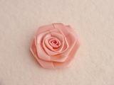 Peach Pink Flower Ribbon Applique #AP-276
