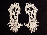 Beaded Venise Lace Collar Applique (Pair) #AP-40