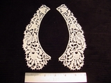 Venice Lace Collar Vintage Applique (Pair) #AP-52
