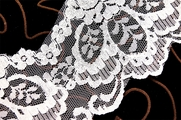 "4 3/4"" Natural White Lace Trim with Iridescent Sequins #267"