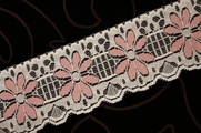 "2 1/2"" Ivory Tea Rose Flower Lace Trim #lace-18"