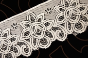 "4"" Off White Big Floral Lace Trim #lace-66"