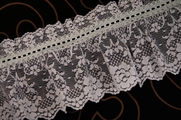 "5"" Blue Ruffled Lace Trim #lace-72"