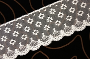 "3"" Natural Floral Scalloped Lace Trim #lace-124"