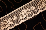 "2 1/4"" Peach Floral Lace Trim"