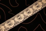 "1 1/4"" Peach Floral Lace Trim"
