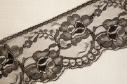 "4"" Black Floral Lace Trim #lace-185"