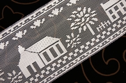 "5"" White Lace Trim #lace-511"