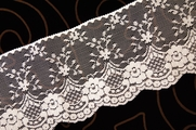 "4"" Natural Floral Lace Trim #lace-518"