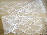 "3"" Pure White Scalloped Fine Flat Lace Trim LT-319"