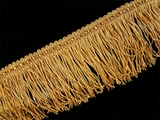 "Italian 2 1/2"" Chainette Fringe Trim Golden Brown LT-5"